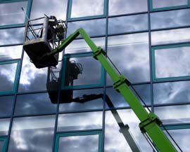 Cherry picker window cleaning Cork